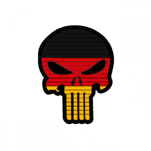 Flag PUNISHER Skull GERMANY DEUTSCHLAND PVC Patch