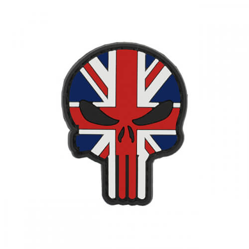 Flag PUNISHER Skull UNITED KINGDOM UK ENGLAND PVC Patch