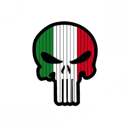 Flag PUNISHER Skull ITALY ITALIEN PVC Patch