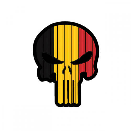 Flag PUNISHER Skull BELGIUM PVC Patch