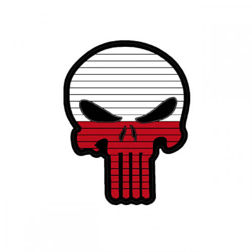 Flag PUNISHER Skull POLAND PVC Patch