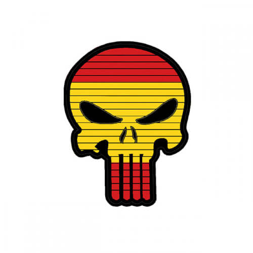 Flag PUNISHER Skull SPAIN Spanien PVC Patch