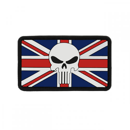 Flag PUNISHER Skull UNITED KINGDOM 2 PVC PATCH