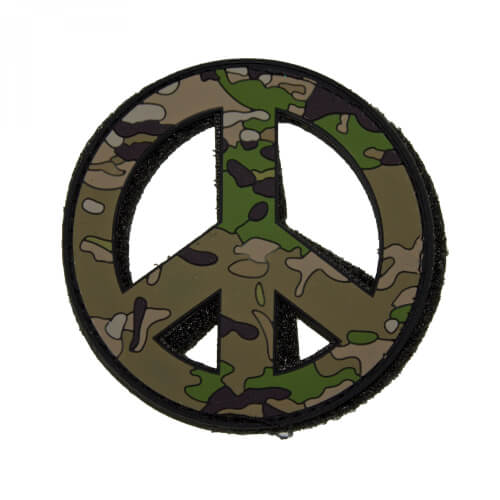 PEACE - 3D PVC Rubber Patch Camoflage