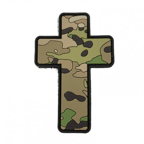 TACTICAL FAITH CROSS PVC Rubber Patch Religion Camoflage