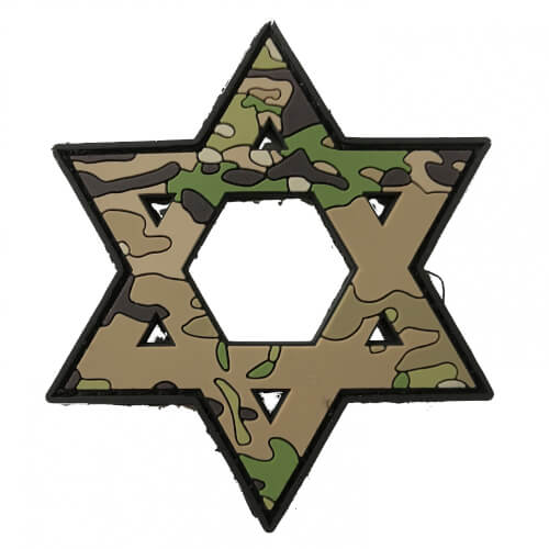 TACTICAL FAITH DAVID'S STAR PVC Rubber Patch Religion Camoflage