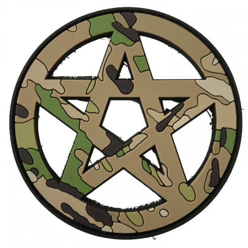 TACTICAL FAITH WICCA PVC Rubber Patch Religion Camoflage Multicamo
