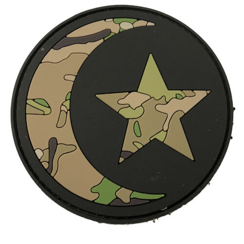 TACTICAL FAITH ISLAMIC HALFMOON HALBMOND PVC Rubber Patch Religion Camoflage