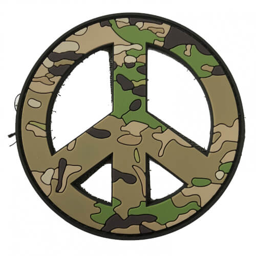 TACTICAL FAITH Peace Frieden PVC Rubber Patch Religion Camoflage