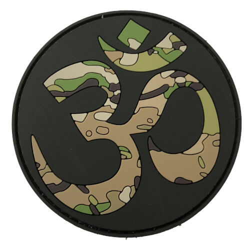OM Budda TACTICAL FAITH Yoga PVC Rubber Patch Religion Camoflage