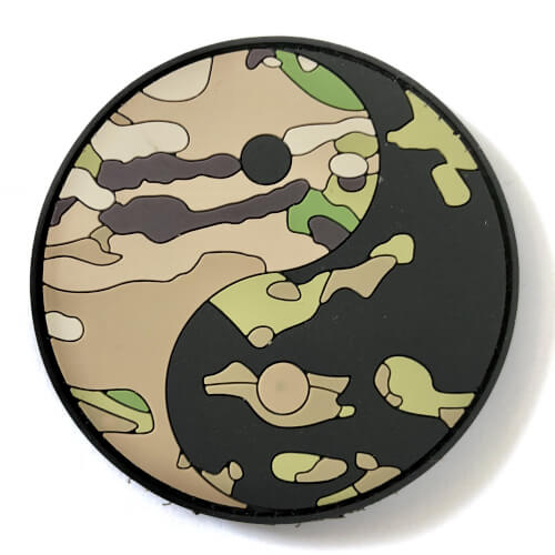 TACTICAL FAITH YING YANG PVC Rubber Patch Religion Camoflage