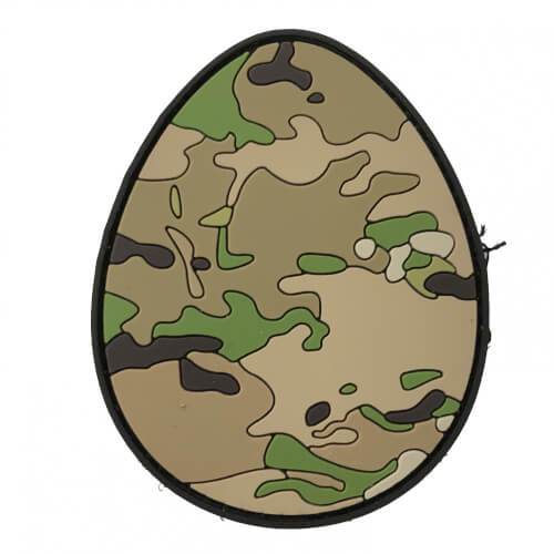 TACTICAL FAITH EASTER EGG OSTEREI PVC Rubber Patch Religion Camoflage