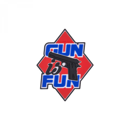 Helikon-Tex Gun is Fun Patch - PVC - Red