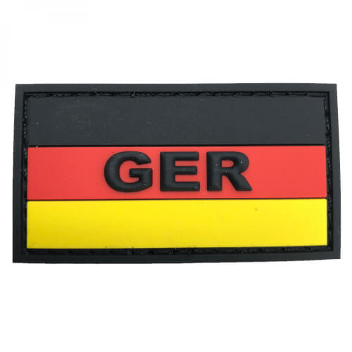 GER mit Deutschlandflagge PVC Patch