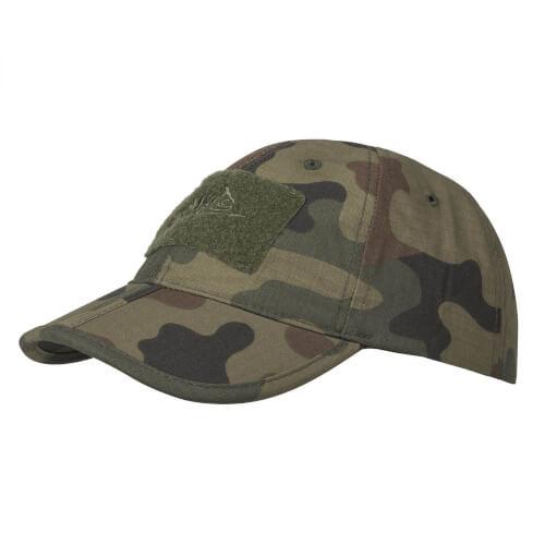 Helikon-Tex Baseball Folding Cap -PolyCotton Ripstop- PL Woodland
