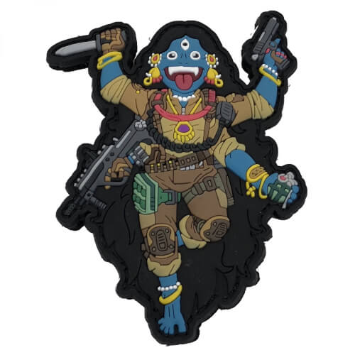 Kali the Black 3D PVC Patch Tactical Gods Mystic Warriors by HIWEZ