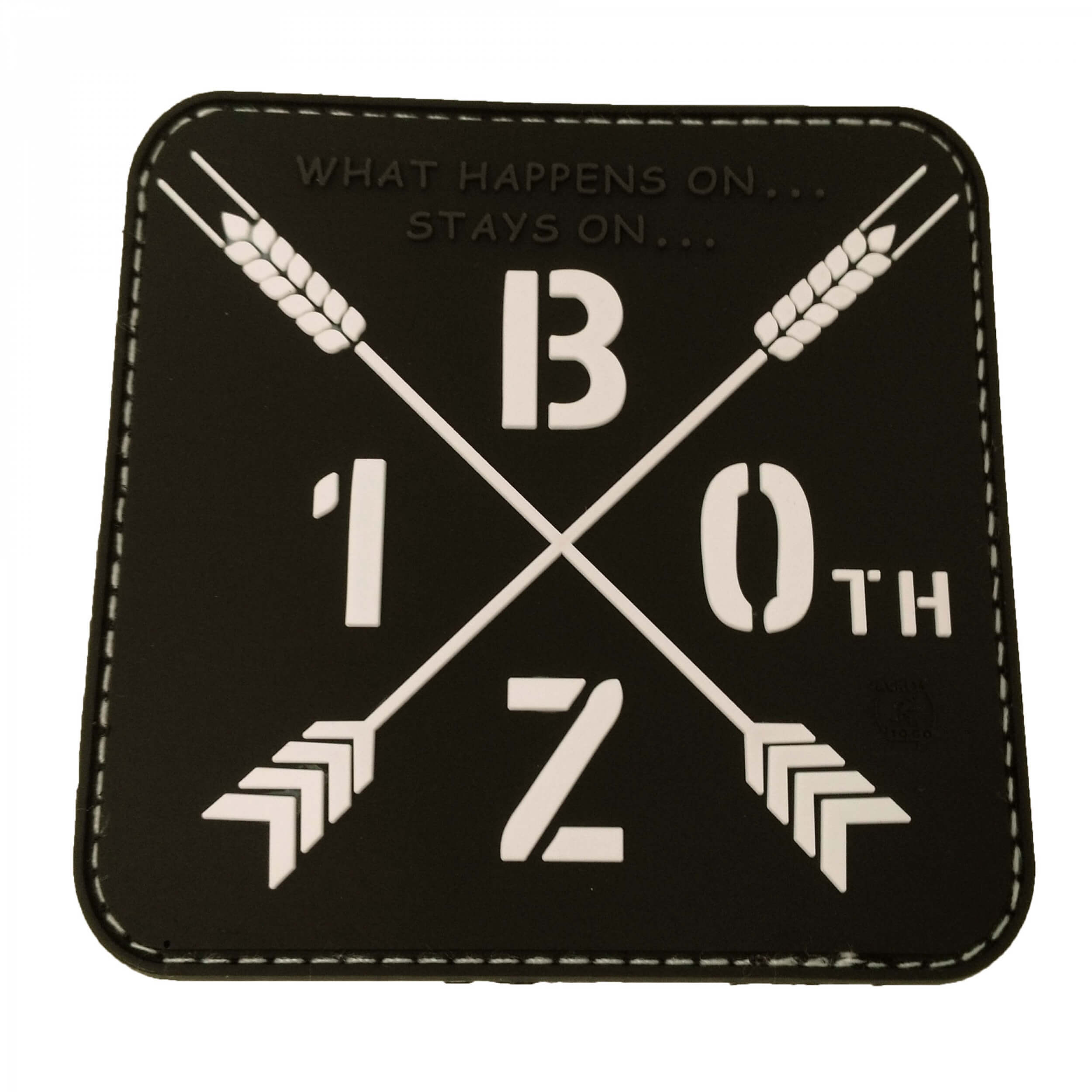 BEERZONE 10th Jubiläums Patch / 3D Rubber patch