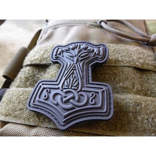 Thors Hammer Mjölnir, blackops / 3D Rubber Patch