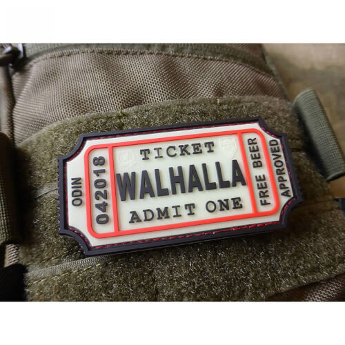 JTG WALHALLA TICKET - Odin approved, gid 3D Rubber Patch