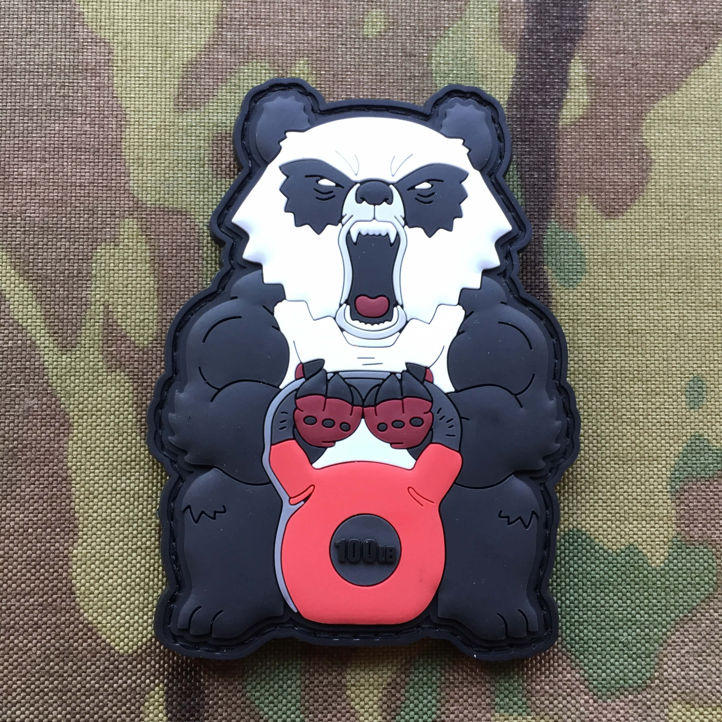 Angry Fitness Panda Kettlebell 100lb 3D PVC Patch