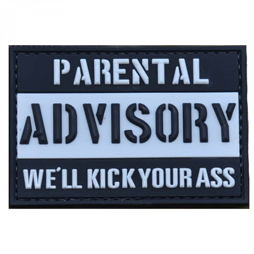PVC Patch 'Parental Advisory- We'll kick your ass'