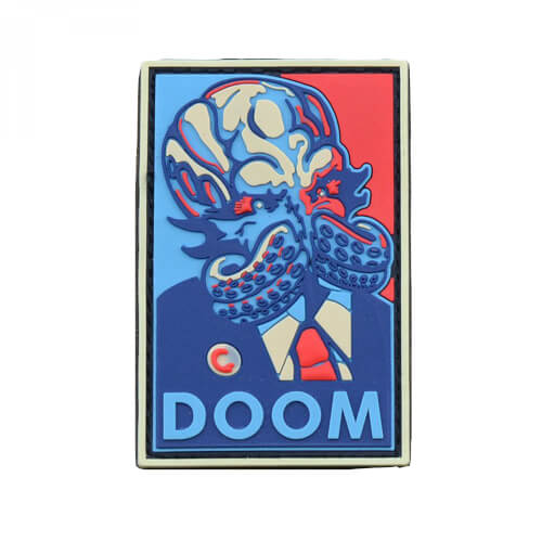 PVC Patch 'DOOM' Pop Art Style Klett-Abzeichen
