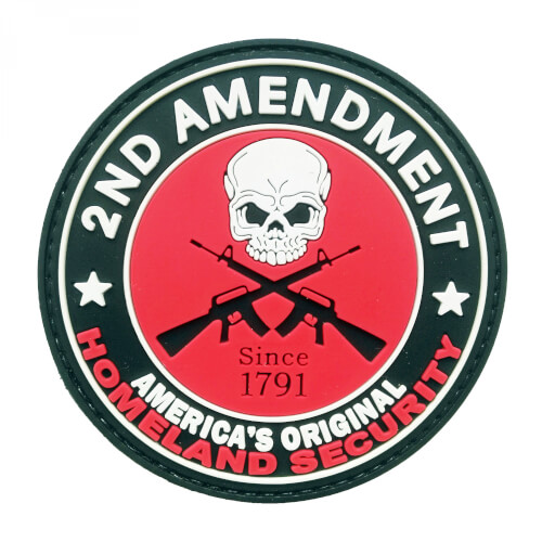 PVC Patch '2ND Amendment - America's Original Homeland Security' Klett-Abzeichen