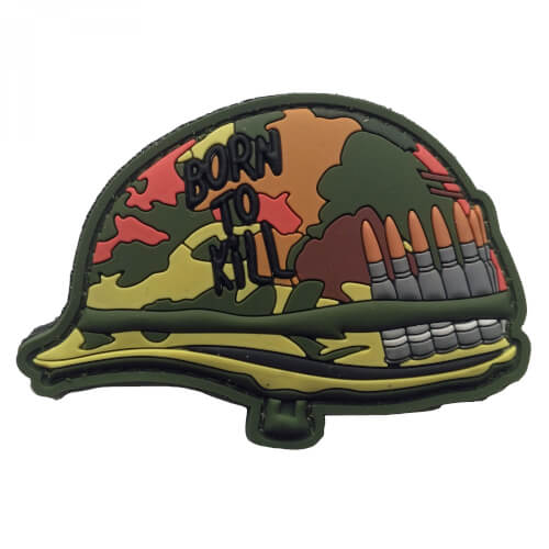 PVC Patch 'BORN TO KILL' HELMET Klett-Abzeichen