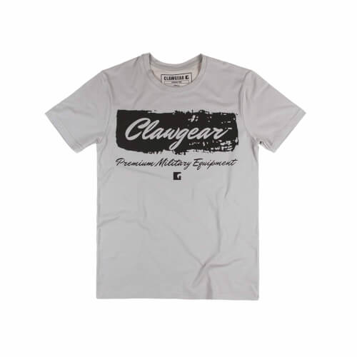 Clawgear Handwritten Tee T-Shirt Light Grey
