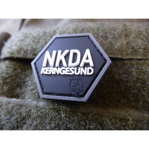 JTG NKDA KERNGESUND, Hexagon Patch, swat / JTG 3D Rubber Patch, HexPatch