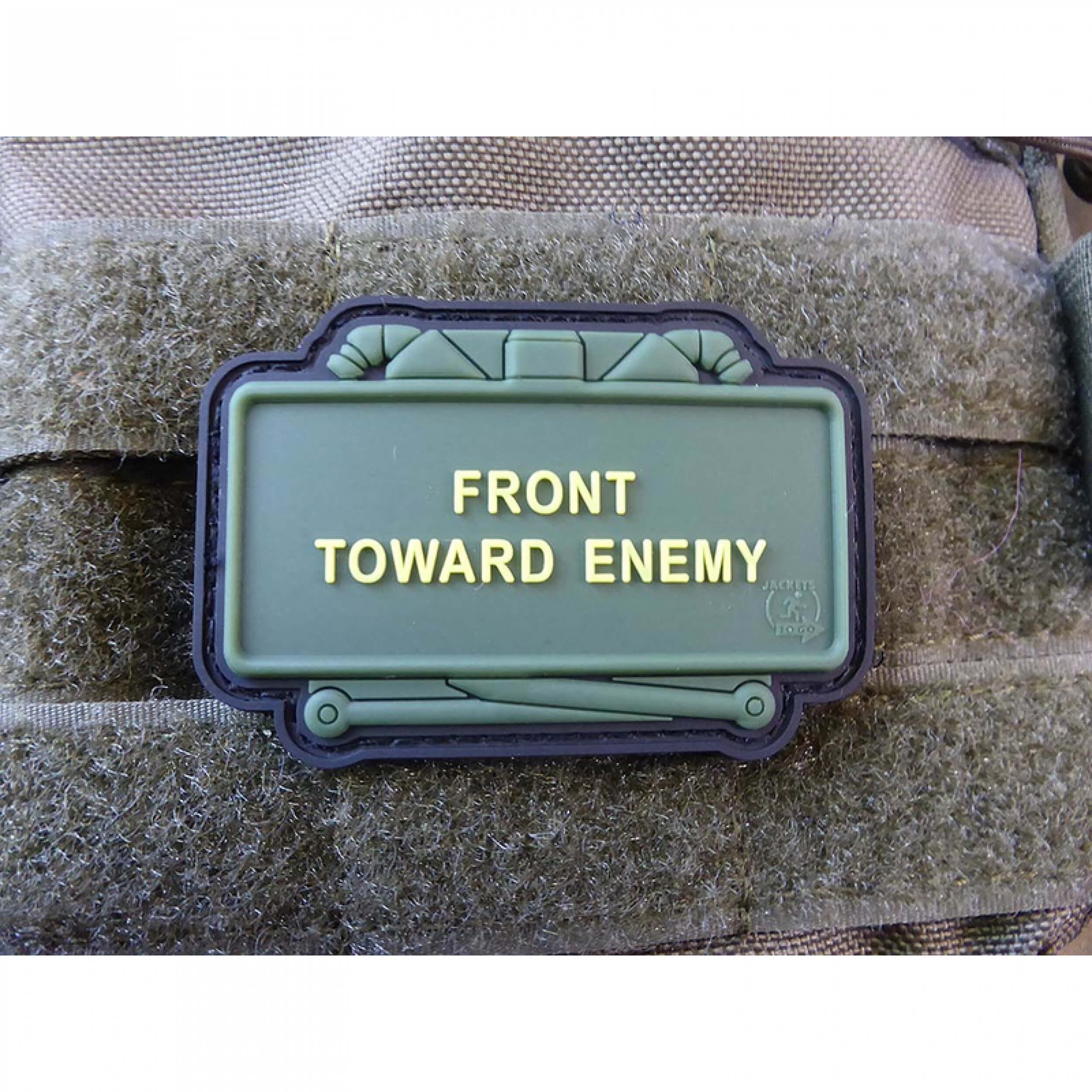 JTG CLAYMORE MINE Patch, Front Toward Enemy, fullcolor / JTG 3D Rubber Patch