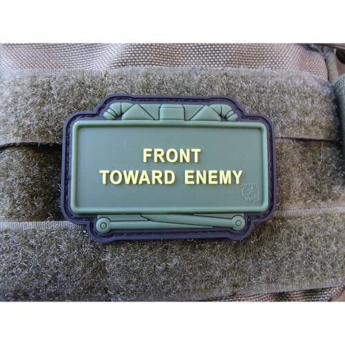 JTG CLAYMORE MINE Patch, Front Toward Enemy, fullcolor / JTG 3D Rubber Patch