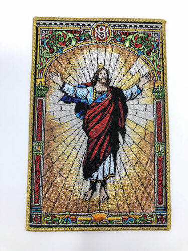 Risen Auferstehung Christ Jesus - Embroidered Patch - 20 x 13 cm