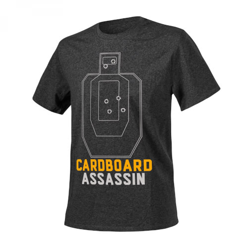 Helikon-Tex T-Shirt (Cardboard Assassin) -Cotton- Melange Black-Grey