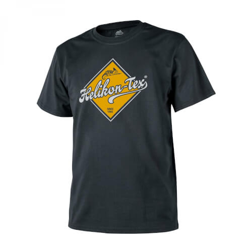 Helikon-Tex T-Shirt (Helikon-Tex Road Sign) -Cotton- Black