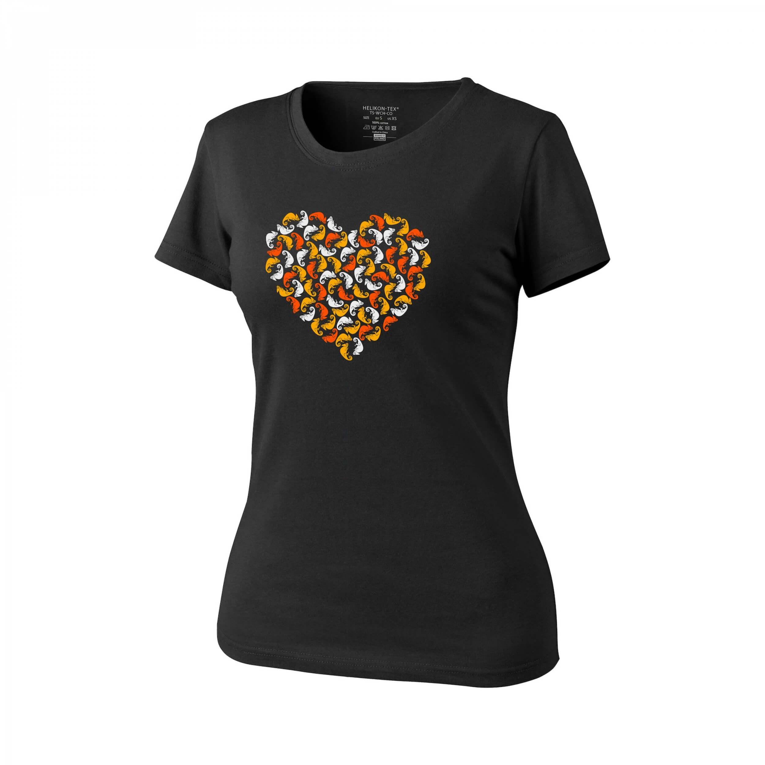 Helikon-Tex WOMEN'S T-Shirt (Chameleon Heart) -Cotton- Black