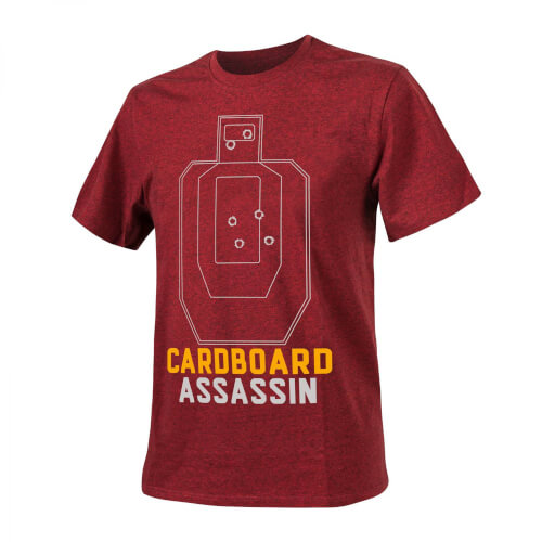 T-Shirt (Cardboard Assassin) -Cotton- Melange Red