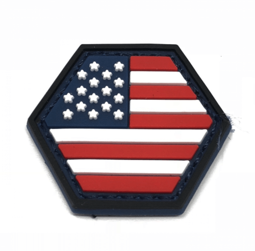 HEXPATCH FLAG USA 2.5x2.5cm HEXAGON POLYGON PATCH