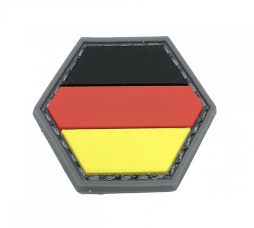 HEXPATCH FLAG DEUTSCHLAND GERMANY 2.5x2.5cm HEXAGON POLYGON PATCH