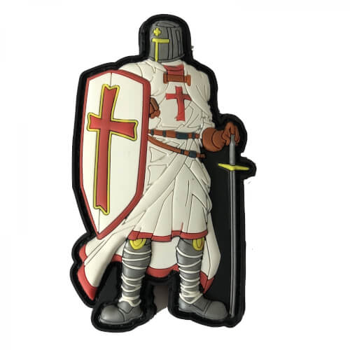 Tempelritter Templar Knight Ritter Patch Moralepatch Abzeichen