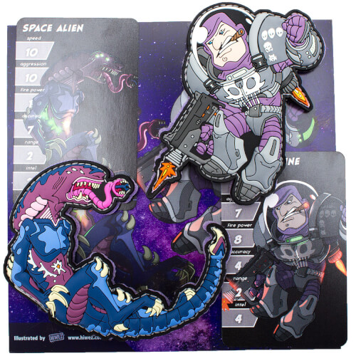Space Force Marine vs. Alien Patch Set by HIWEZ