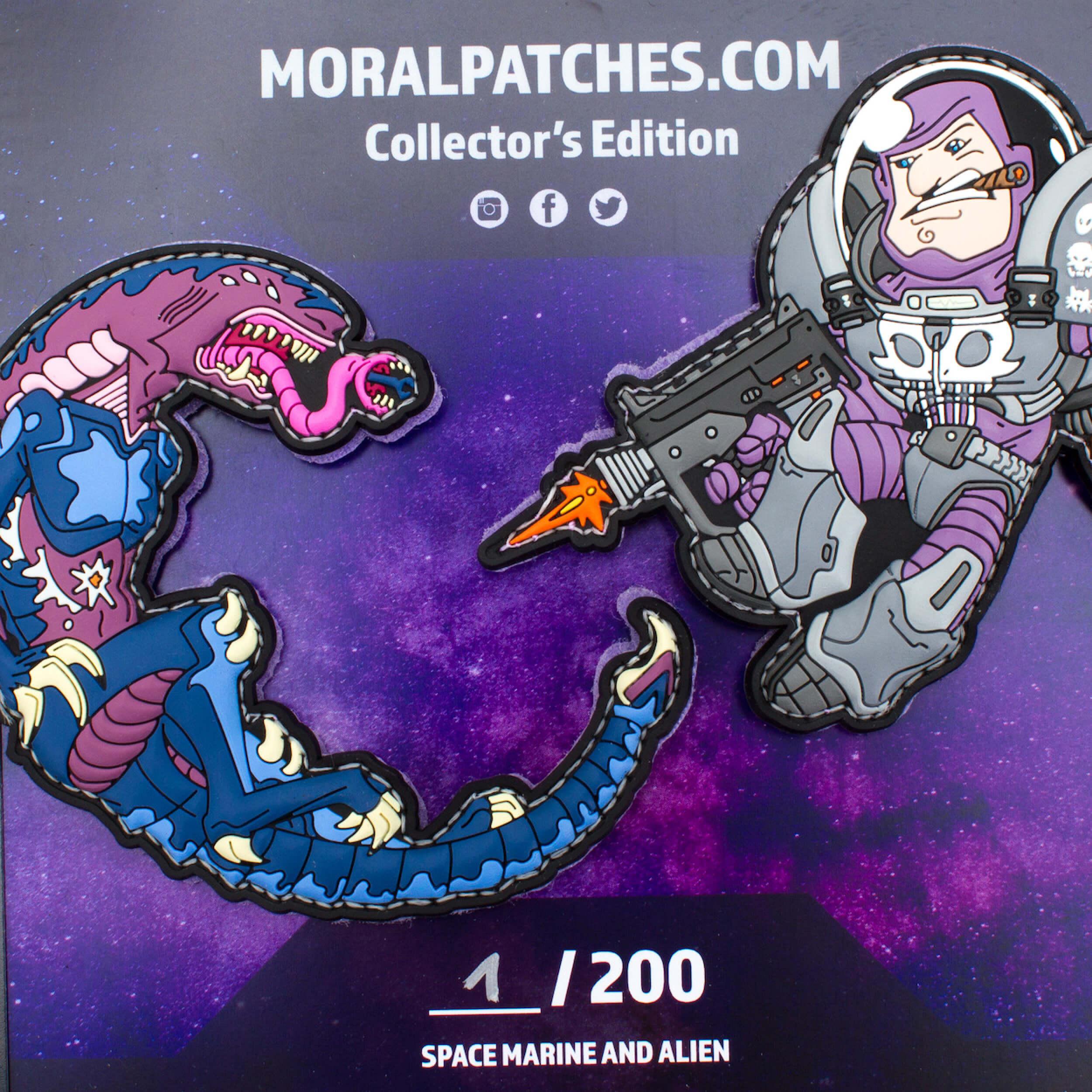 Space Force Marine vs. Alien Patch Set by HIWEZ