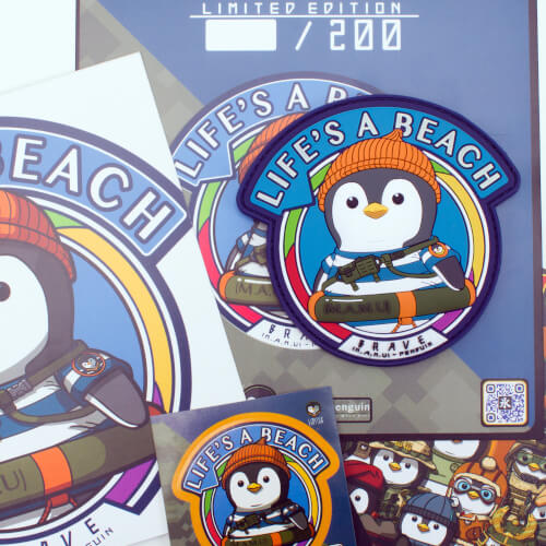 M.A.M.U. BRAVE PENGUIN RESCUE MARINE PATCH