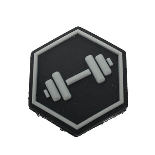 Hexpatch Fitness CF - Dumbbell Hantel Patch 2.5x2.5cm