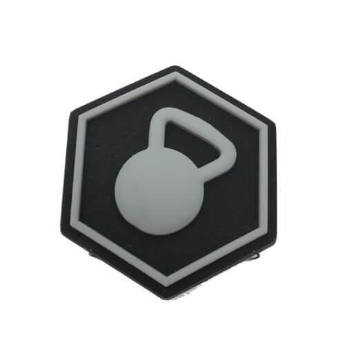 Hexpatch Fitness CF - Kettlebell Patch 2.5x2.5cm für Hexgrid Waben