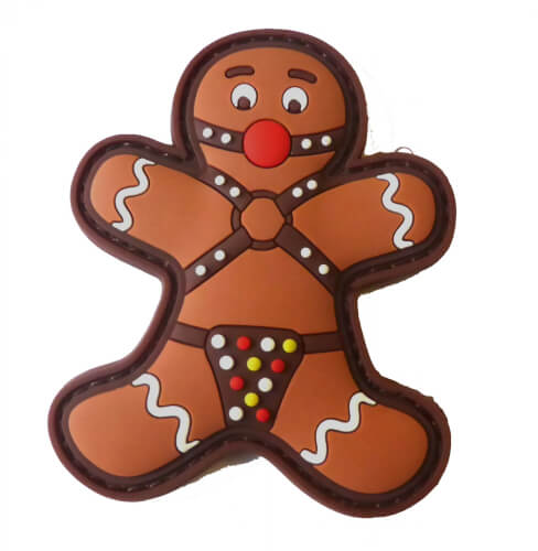 Gingerbread Lebkuchenmann GAGBALL BDSM SM Fetish Patch