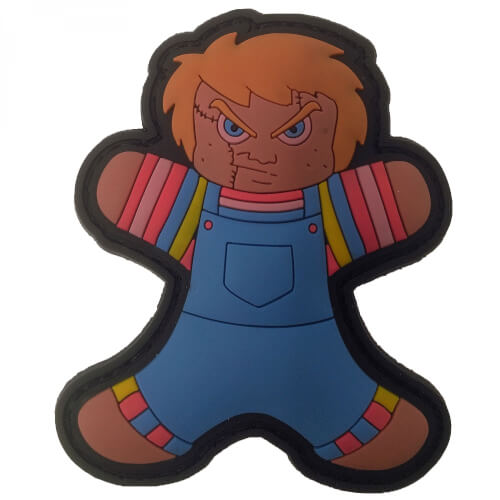 Gingerbread Lebkuchenmann Chucky Puppe HORROR HELLOWEEN PATCH