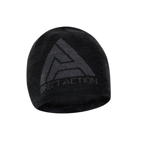 Direct Action Winter Beanie - Merinowolle - Schwarz