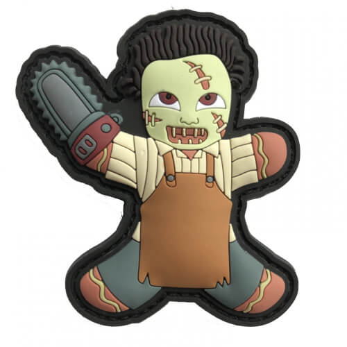Gingerbread Lebkuchenmann Leatherface KILLER Chainsaw HORROR HELLOWEEN PATCH