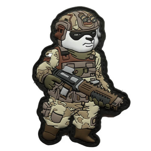 Tactical Panda Soldat Operator 3D Patch